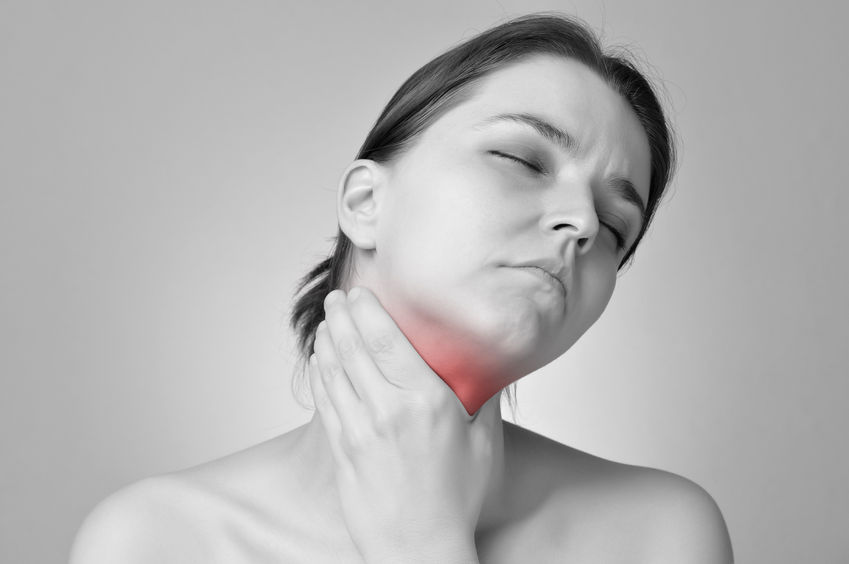 Women Holding Thyroid