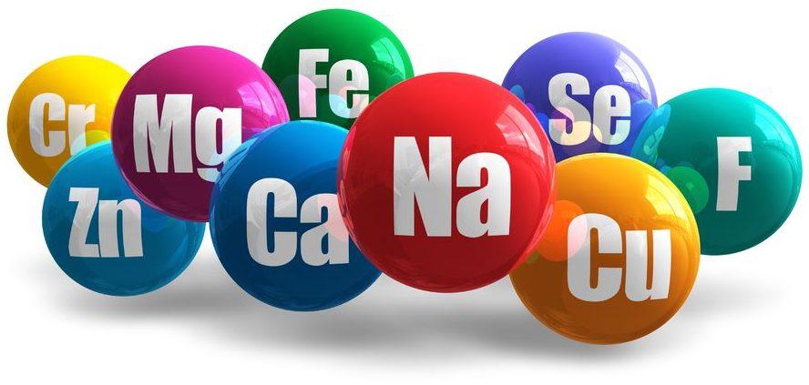 group of minerals, mg, fe, se, f, na, cu, ca, zn